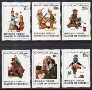 Comoro Islands 561-566 Norman Rockwell MNH VF