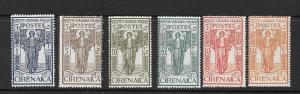 CYRENAICA Scott #B7-B12 Set Mint NH Semi-Post 2018 CV $16.00