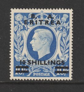 British Forces in Eritria a MNG 10/- overprint
