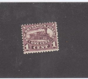NEW BRUNSWICK # 6 VF-MLH 1cts 1860 LOCOMOTIVE /RED LILAC /CENTS ISSUE CV $60