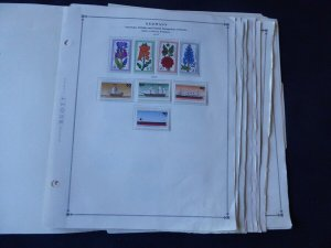 Germany and Area 1975-1977 Mint/Used Stamp Collection on Scott Int Album Pages