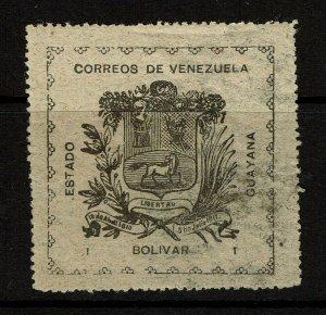 Venezuela Guayana SC# 15 Mint Hinged / Label Hinge Rem - S10377