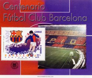 Chile 100 Years Football C.Barcelona SS mnh Scott # 1287