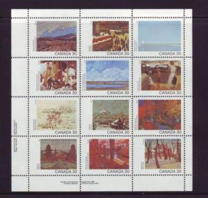 Canada Sc 966a 1982 Canada Day Paintings stamp sheet mint NH