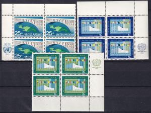 United Nations #118-20  Inscription Blocks  MNH CV $3.80  Z862