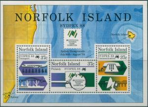 Norfolk Island 1988 SG447 Sydpex MS MNH