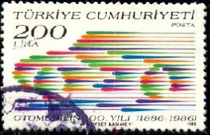 Automobile, Cent., Abstract Speeding Car, Turkey stamp SC#2361 used