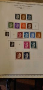 Germany Occupation Stamps on Pages