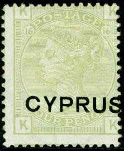 CYPRUS SG4, 4d sage-green, VLH MINT. Cat £130.