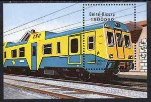 1989 Guinea Bissau 1040/B276 Locomotives