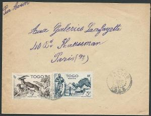 TOGO 1950 airmail cover to France..........................................46783