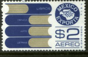 MEXICO EXPORTA C493, $2P. BOOKS, PAPER 1. MINT, NH. VF.