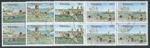 TOKELAU 1980 Water Sports set in fine used blocks of 4.....................41474