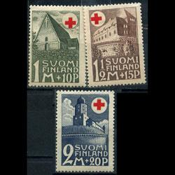 FINLAND 1931 - Scott# B5-7 Buildings Set of 3 LH