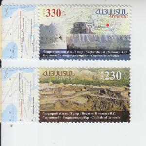 2016 Armenia Ancient Capitals (2) (Scott 1084-85) MNH
