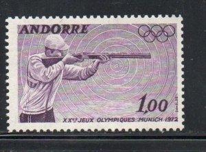 Andorra (Fr) Sc 213 172 Shooting Olympics stamp mint NH