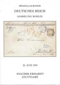 Erhardt:    Specialauktion Deutsches Reich Sammlong Rohlf...