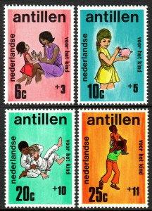 Netherlands Antilles B105-B108, MNH. Child Welfare.Mother,child;Girl,Boys, 1970