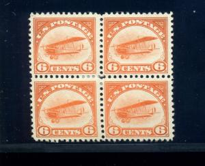 Scott #C1 Air Mail Mint  Block of 4 Stamps (Stock #C1-1)
