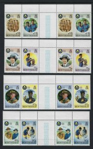 1986 Montserrat Scout Girl Guide 50th anniversary gutter pairs