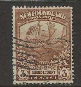 Newfoundland - Scott 117 - Caribou Issue - 1919 - Used - Single 3c Stamp
