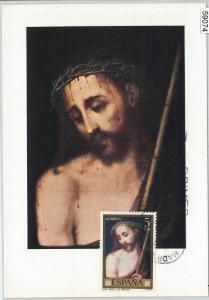 59074  -  SPAIN - POSTAL HISTORY: MAXIMUM CARD 1977  -  ART Religion