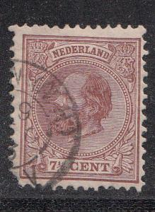 Netherlands 24 Mi 20 Used F/VF 1883 SCV $18.00
