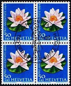 Switzerland. 1964 50c+10c(Block of 4). S.G.J206 Fine Used