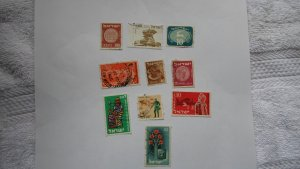 ISRAEL STAMPS MIXED CONDITION. LOT OF 10 STAMPS ( 10