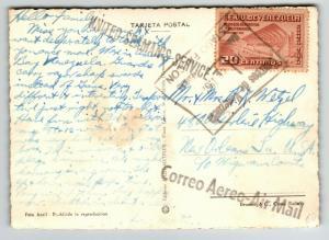 Venezuela 1952 United Seamans Service Postcard to USA - Z13663