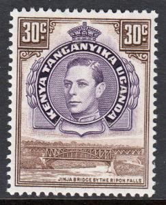 Kenya Uganda Tanganyika KGVI 30c Dull Purple Brown SG142 Mint