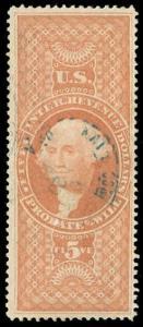 momen: US Stamps #R92c Revenue Handstamp Used VF+