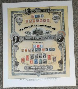 1994 Bureau of Engraving & Printing color poster collage 14 X 17 inches
