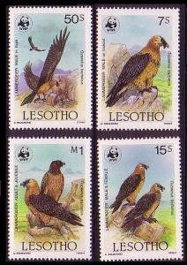 Lesotho WWF Lammergeier Birds 4v SG#677=683 MI#556-559 SC#512-515