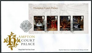 HERRICKSTAMP GREAT BRITAIN Sc.# 3754 Hampton Court S/S First Day Cover Edinburgh