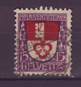 J14268 JLstamps 1919 swiss used semi #b14 obwalden