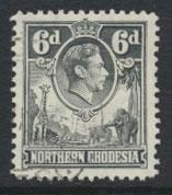 Northern Rhodesia  SG 38  SC# 38 Used  see detail and scan