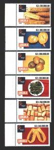 Angola. 1998. 1260-65. Vegetables. MNH.