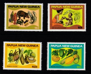 Papua New Guinea MNH 562-5 Child Care Healthy Foods 1982