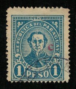 1927 Paraguay  National Symbol - Overprinted C (Campana) 1P (ТS-477)