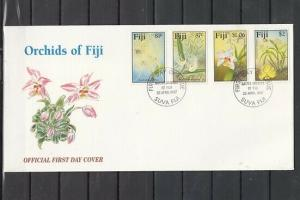 Fiji, Scott cat. 788-791. Orchids of Fiji issue. First day cover.