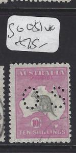 AUSTRALIA  (PP2607B)   KANGAROO   10/-  PERF OS  SG O51    VFU
