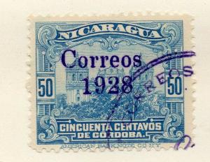 Nicaragua 1928 Early Issue Fine Used 50c. Optd 323616