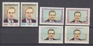 J28853, 1990 syria hv,s of set  mnh #1215-24 president assad