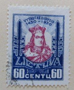 A11P5F66 Litauen Lituanie Lithuania 1930 60c used