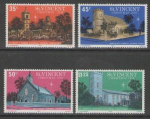 ST.VINCENT SG494/7 1976 CHRISTMAS MNH