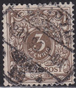 Germany 46 USED 1889 Numeral Issue 3pf