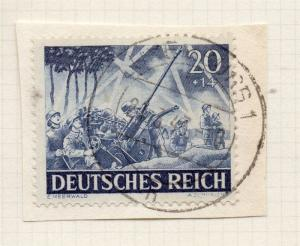 1944-45 GERMANY used in LUXEMBOURG Fine Used 20p. Postmark Piece 241808