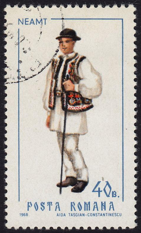 Romania - 1968 - Scott #2059 - used - Regional Costume