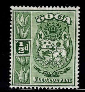 TONGA  Scott 73 MH* 1942 coat of arms stamp wmk 4